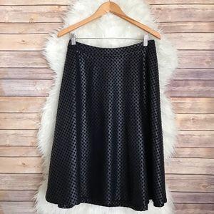 Catherine Malandrino Faux Leather Polka Dot Skirt
